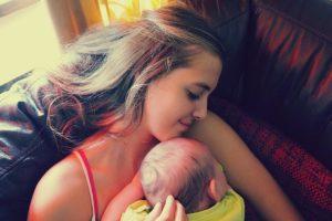 bonding with a newborn baby