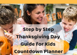 Thanksgiving Day Guide for Kids _ Step by Step Countdown Planner