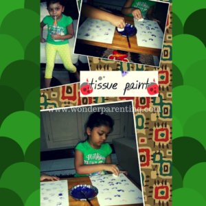 tissue paint craft ideas for kids