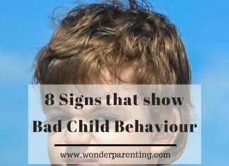 8 Signs that show bad child behaviour