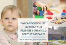 DAYCARE CHECKLIST HOW CAN YOU PREPARE YOUR CHILD FOR THE DAYCARE_