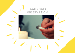 Flame Test observation