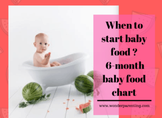 When to start baby food - Annaprashana _ 6 month baby food chart