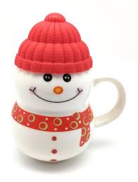 ceramic snowman mugs with lid