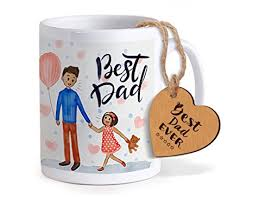 BBONS Fathers Day Gifts Coffee Mug(320Ml) with Greeting Card -wonderparenting