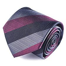 Qobod 100% Silk Necktie Men's Handmade Striped Tie Gift Box-wonderparenting